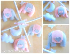 Baby crib mobile - baby mobile - elephant mobile on Etsy, $95.00