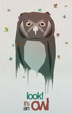Poster | LOOK! IT'S AN OWL von Dániel Taylor | more posters at http://moreposter.de