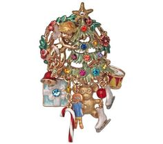 Kirks Folly Pixies Present Christmas Pin/Enhancer