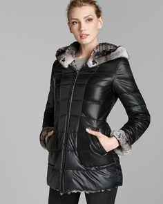 Maximilian Reversible Rex Rabbit Coat with Leather on shopstyle.com