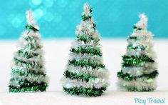 Two Tone Pipe Cleaner Christmas Trees