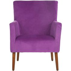 Accent Chairs ❤ liked on Polyvore featuring home, furniture, chairs, accent chairs, colored chairs, purple armchair, purple chair, purple furniture and colored furniture