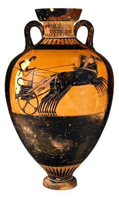 KLEOPHRADES. Ánfora griega. 490-480 a. C.