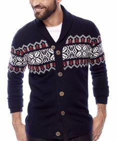 17ab22110 I Jeans by Buffalo Mens Cardigan Shawl Sweater Acrylic Wool size M