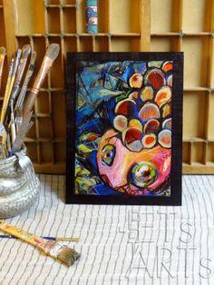 Wood Print  REDishPink FISH HEAD  Additional Artwork by ETsARTs, $38.00