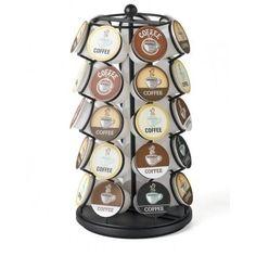 K Cup Carousel 35 Pod Holder Keurig Coffee Storage Spinning Organizer Rack Black #Nifty