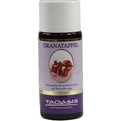 GRANATAPFEL BIO Wellnessöl:   Packungsinhalt: 50 ml Öl PZN: 07396857 Hersteller: TAOASIS GmbH Natur Duft Manufaktur Preis: 4,21 EUR inkl.…
