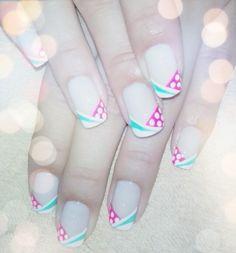 Puntos!! Nails, Beauty, Dots, Blue Prints, Finger Nails, Ongles, Beauty Illustration, Nail, Nail Manicure