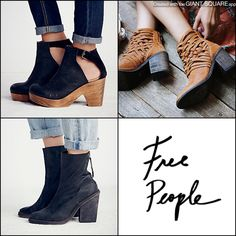 Free People Fall Arrivals! The Black Amber Clog, the Tan Carrera & the Black Marquis boot!