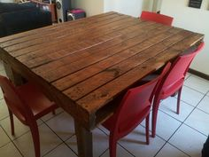 Pallet Dining Room Table as easy as 1 2 3