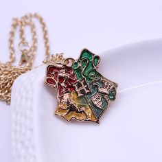 Harry Potter Hogwarts Badge Pendant Necklace