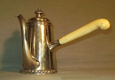 Bernard Rice's Sons, Inc. NY 1867-1950 silver plated chocolate pot with ivory handles