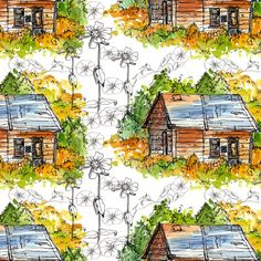 Country Cabin fabric by countrygarden on Spoonflower - custom fabric