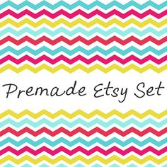 40 OFF SALE Premade Etsy Shop Banner Avatar Set  by cosdesign, $3.00