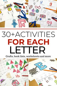 90+ Letter Recognition Worksheets and activities to teach the letters