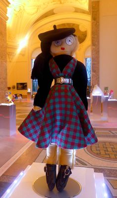 TOP FASHION DESIGNERS CREATE DOLLS FOR UNICEF Doll created by Prada. (photo credit: The Statement Box)