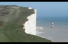 Beachy Head is a chalk headland on the south coast of England, close to the town of Eastbourne in the county of East Sussex, immediately east of the Seven Sisters. The cliff there is the highest chalk sea cliff in Britain, rising to 162 m (530 ft) above sea level. The peak allows views of the south east coast from Dungeness to the east, to Selsey Bill in the west. Its height has also made it one of the most notorious suicide spots in the world. The chalk was formed in the Late Cretaceous…
