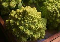 Romanesco. Had this in Spain a few days ago! a mix between broccoli and califlour..