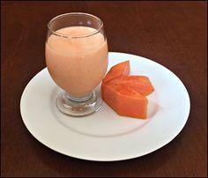 vitamina de banana com cenoura e mamão