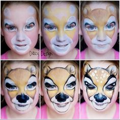 Daizy Design - Learn some face painting designs...I just LOVE this deer