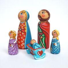 Conjunto de PEG muñeca Natividad creche Santa familia Navidad