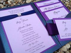 Glamorous Pocket Invitation Wedding Invitation by decadentdesigns