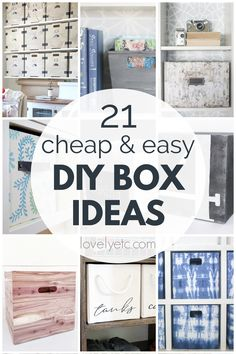 These 21 budget-friendly DIY storage boxes will help you get organized for cheap! I've gathered a collection of amazing DIY storage box ideas that you can easily make for you own home. There are wood, cardboard, and fabric boxes in all shapes and sizes so hopefully, you will find the perfect inspiration for your next organizing project! Lego Storage Boxes, Pretty Storage Boxes, Fabric Storage Boxes, Storage Buckets, Decorative Storage Boxes, Fabric Boxes, Crate Storage, Diy Storage Easy, Homemade Storage