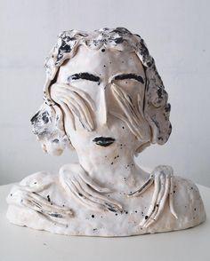 """""""The Unconscious Mind"""", ceramic sculpture, 2016 Alina Vergnano #ceramics #alinavergnano (at Galleri Magnus Winström) """""""