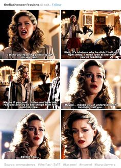 Did you just realize you have a tendency to be a bit self-righteous and judgemental, especially when Mon-El is involved? Did you just realize you were wrong? Superhero Shows, Superhero Memes, Supergirl Superman, Supergirl And Flash, The Flash Season 3, Dc Comics, Melissa Marie Benoist, Cw Dc, Dc Tv Shows