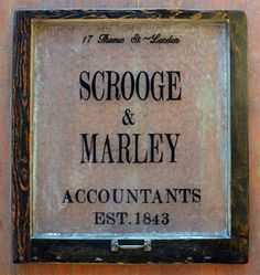 scrooge and marley sign - Google Search
