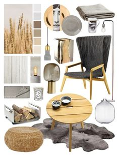 """""""Natural Neutrals"""" by ladomna ❤ liked on Polyvore featuring interior, interiors, interior design, home, home decor, interior decorating, Bloomingville, Bleu Nature, UGG Australia and Ethimo"""