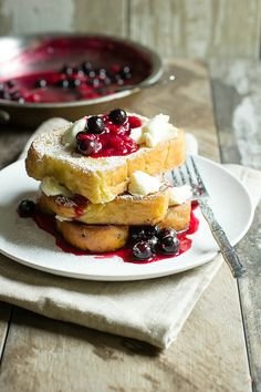 Mixed Berry Mascarpone French Toast - Foodness Gracious