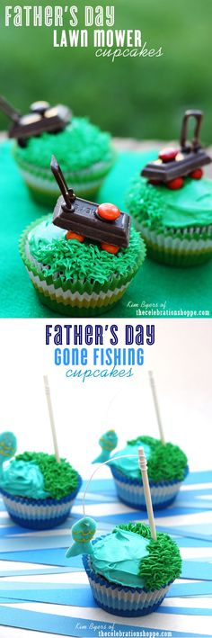 Easy Father's Day Cupcake Ideas TheCelebrationShoppe.com