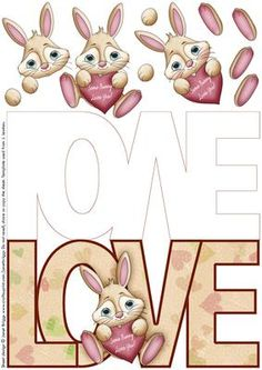 LOVE SHAPED CARD with bunny for men