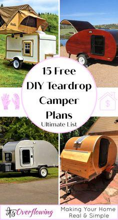 Teardrop Trailer Plans, Building A Teardrop Trailer, Teardrop Camper Trailer, Diy Camper Trailer, Build A Camper, Trailer Build, Camper Caravan, Retro Campers, Mini Caravan