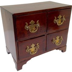 Miniature Mahogany Chest of Drawers Jamaican from Antiques of River Oaks on Ruby Lane $245 - Questions Call: 713-961-3333