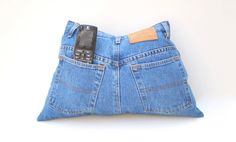 Upcycle Recycled Designer Denim Jeans TV by YellowBugBoutique