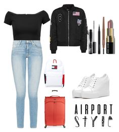 """Untitled #23"" by farahalmazyad ❤ liked on Polyvore featuring Alice + Olivia, Tommy Hilfiger, Bobbi Brown Cosmetics, MAC Cosmetics and Antler"