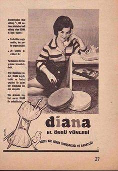 Diana El Örgü Yünleri #birzamanlar #eskireklamlar #istanlook