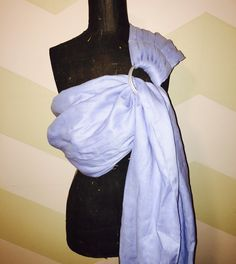 Baby blue 100% linen ring sling double layer by AnnaBananaRingSlings on Etsy https://www.etsy.com/listing/256798017/baby-blue-100-linen-ring-sling-double