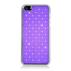 MetroPhones.co Iphone 5 CHROME Spot Diamond Case, Purple: Cell Phones & Accessories