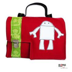 CArtable maternelle original rouge robot Lulu clip argenté garçon mixte Original fait main français CréAtion : CrApule FActOry