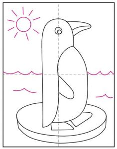 Draw an Easy Penguin · Art Projects for Kids Penguin Drawing Easy, Penguin Art, Projects For Kids, Art Projects, Penguin Coloring, Pooja Rooms, Basic Shapes, Step By Step Drawing, Preschool Crafts