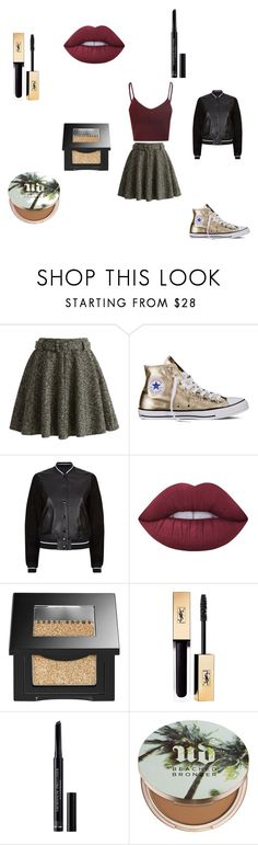 """""""Golden First Date"""" by gretchiebear ❤ liked on Polyvore featuring Chicwish, Converse, rag & bone, Lime Crime, Bobbi Brown Cosmetics, Yves Saint Laurent, Christian Dior and Urban Decay"""