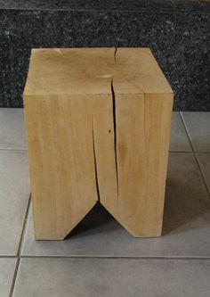 MueblesDeDiseñoContemporáneo Handmade Furniture, Wooden Furniture, Furniture Design, Into The Woods, Wood Stool, Stool Chair, Cubes, Wood Slab, Wood Design
