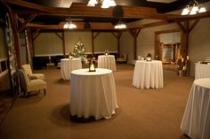 The Cellars at Brookpark Farm Lounge Dressed for a Winter Wedding.