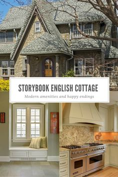 English cottage style home built in 1928, updated with modern amenities including gourmet kitchen, skylights and incredible gardens.
