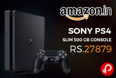 Amazon #LightningDeal is Selling Newer 2017 Model of Sony PS4 Slim 500 GB Console at Rs.27879 Only. The Newer model of PS4 system focuses on the gamer, ensuring that the best games and the most immersive experiences are possible on the platform.   http://www.paisebachaoindia.com/sony-ps4-slim-500-gb-console-at-rs-27879-only-amazon/
