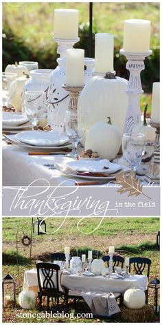 Celebrate Thanksgiving by eating al fresco. A beautiful way to enjoy the world around us!