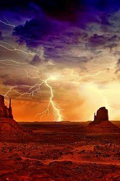 Lightning Storm, Monument Valley ARIZONA USA